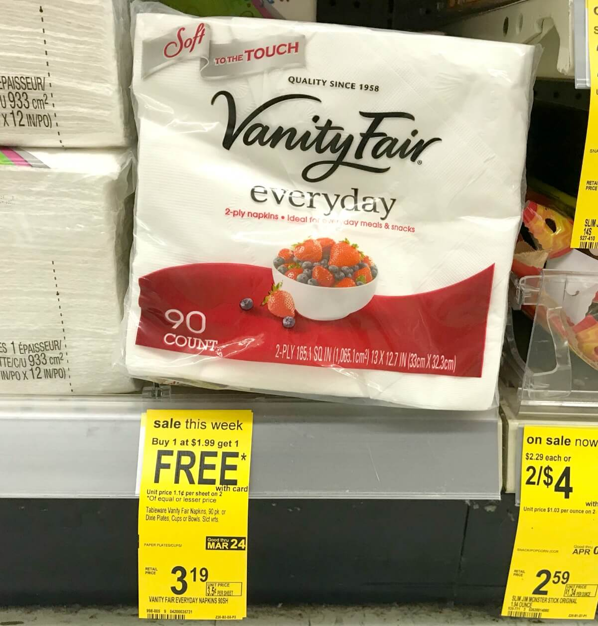 napkins count fair vanity everyday of product paper packs design vary may packaging