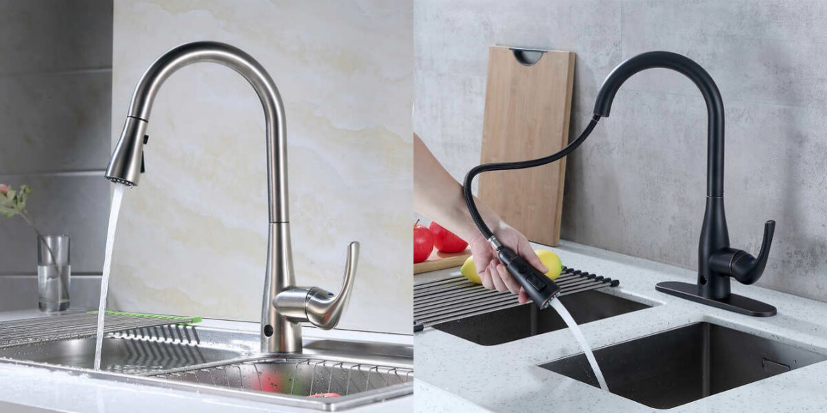 Costco: Flow Motion Activated Pull-Down Kitchen Faucet (3 Finishes ...