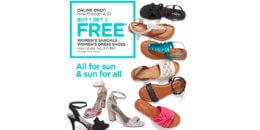 JCPenney Buy 1 Pair of Women's Dress Shoes or Sandals Get 2 FREE