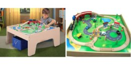 Wooden Activity Table with 45-Piece Train Set & Storage Bin just $45.20 + Free Shipping!