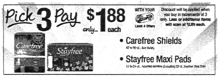 Better Than FREE Stayfree Maxi Pads & Carefree Liners at