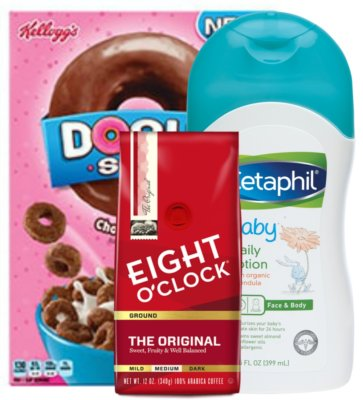 Today's Top New Coupons - Save on Kellogg's, Eight O'Clock Coffee, Cetaphil & More