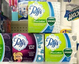 Puffs Facial Tissue Cubes Only $1 at Walgreens!
