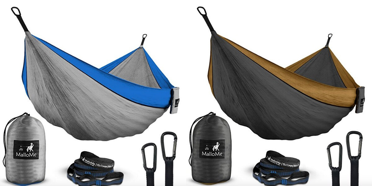 MalloMe XL Double Camping Hammock Only $18 99 (Reg  $90