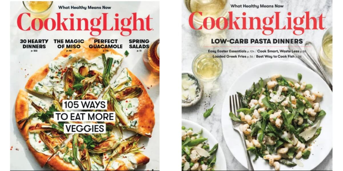 Amazing Cooking Light Magazine 2 Years Just $14.95 Design