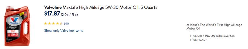 Save $14 on Valvoline Motor Oil + Great Deals at Walmart