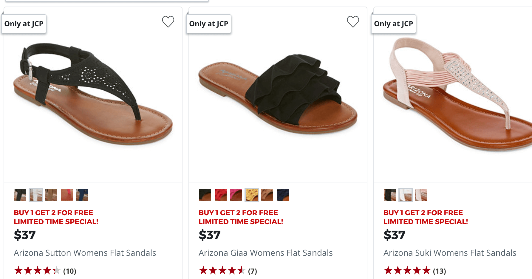 381775c20 JCPenney Buy 1 Pair of Women s Sandals   Flip Flops Get 2 FREELiving ...