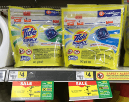Tide Simply Liquid Detergent or Pods Just $0.95 at Dollar General!