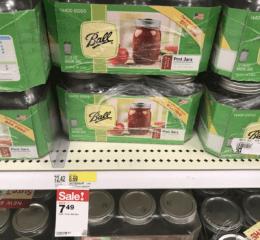 Target Shoppers – Ball Mason Jars 12-Pack Only $2.49 at Target! {Ibotta Rebate}