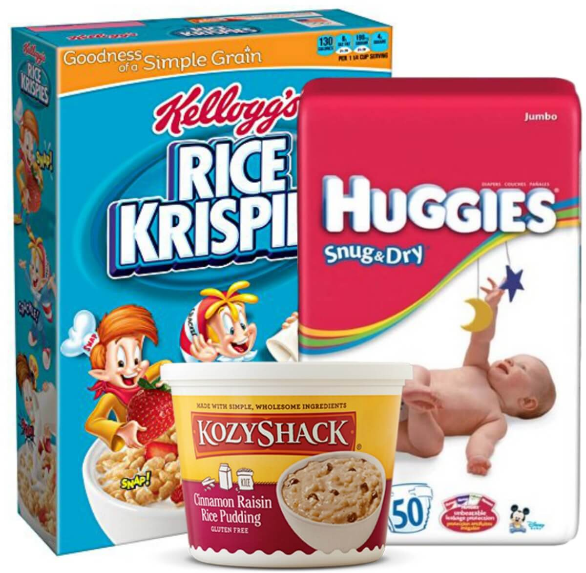 Today's Top New Coupons - Save on Kellogg's, Huggies, Kozy Shack & More