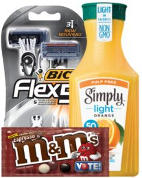 Today's Top New Coupons - Save on M&M's, BIC Razors, Simply Orange & More
