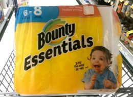 New $1/1 Bounty Essentials or Basic Paper Towel - $0.66 Per Roll at Family Dollar & More!