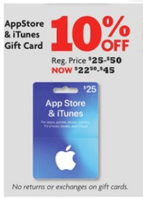 Family Dollar - iTunes Gift Card Deal Save 10%!Living Rich