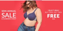 Lane Bryant: Buy 2 Bras Get 2 Free