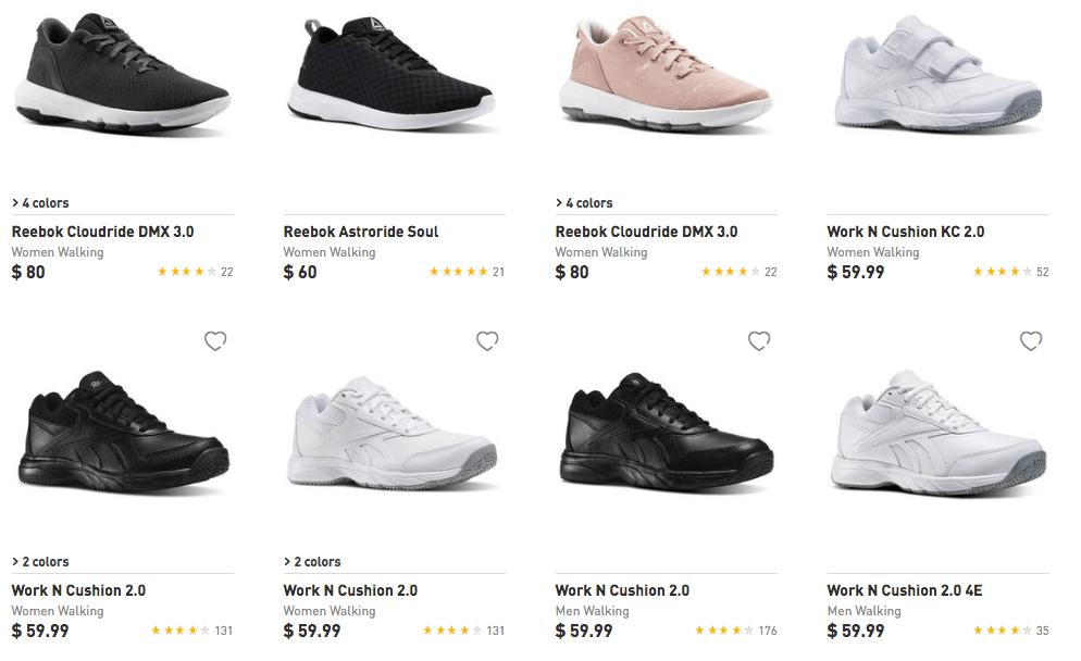 fe7a15407 Reebok Men s and Women s Walking Shoes  29.99 (Reg. Up to  80) + Free  Shipping!