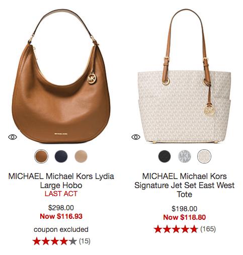 62c02c4e2ab6 Handbag Deal. Great deal alert! At Macy's: Up to 60% Off Michael Kors ...