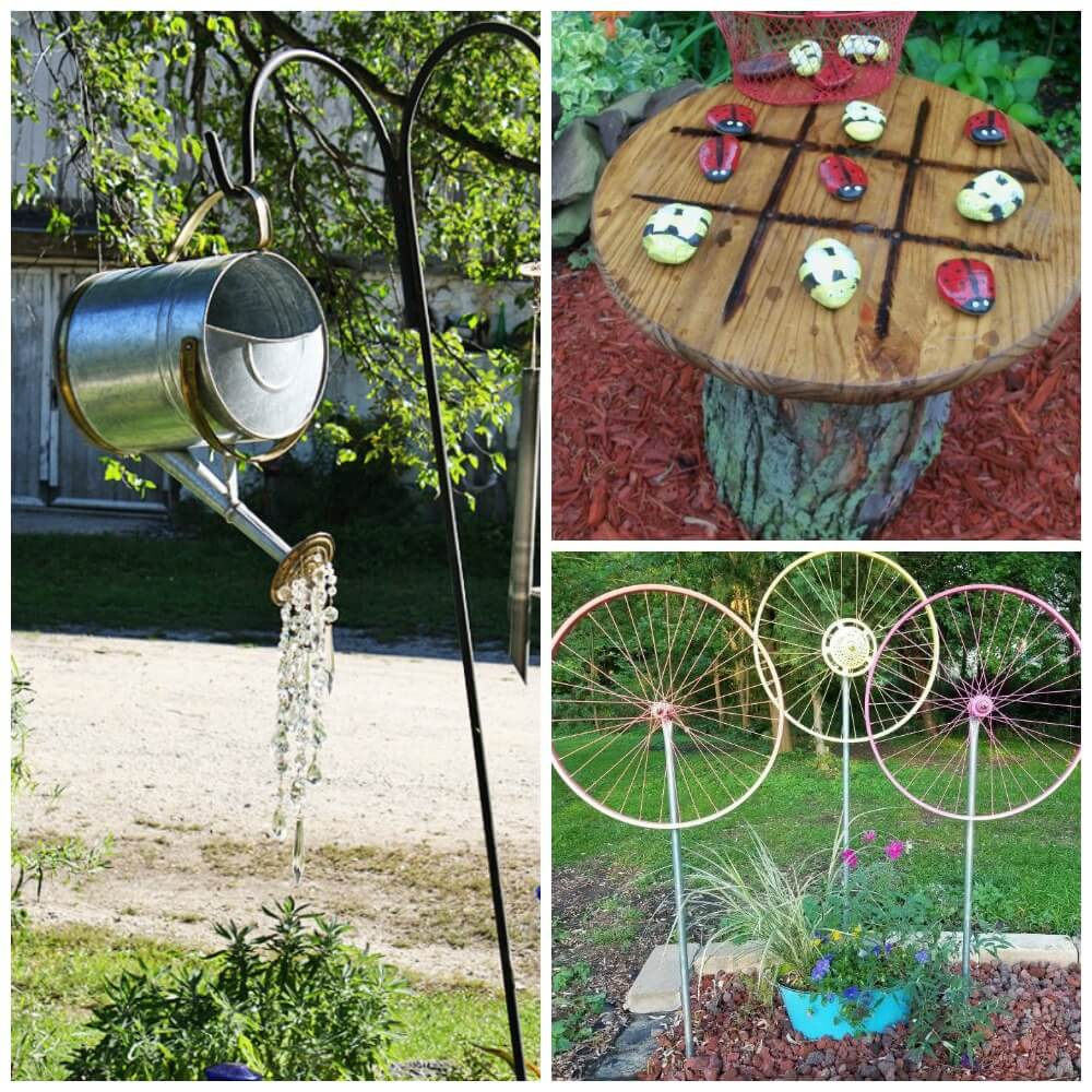 Cheap Gardening Ideas: Watering Can, Spin WheelLiving