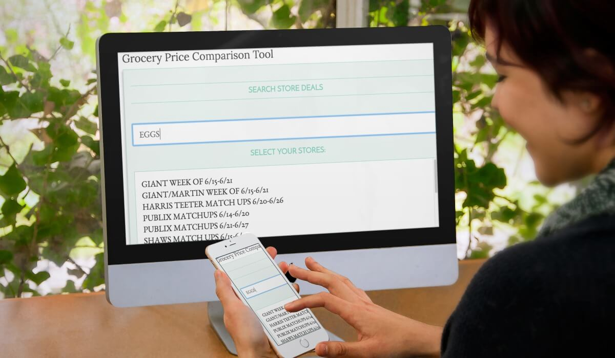 grocery price comparison online tool search local national stores