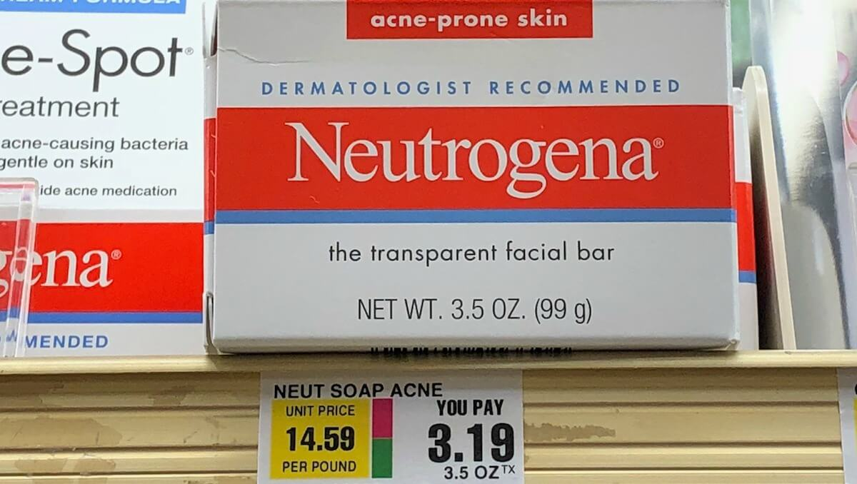 Neutrogena Acne Facial Bar Soap as Low as FREE ShopRite