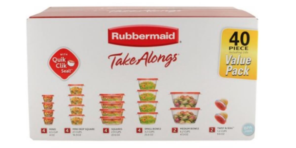 Rubbermaid TakeAlongs Food Storage Container 40 Piece Set just