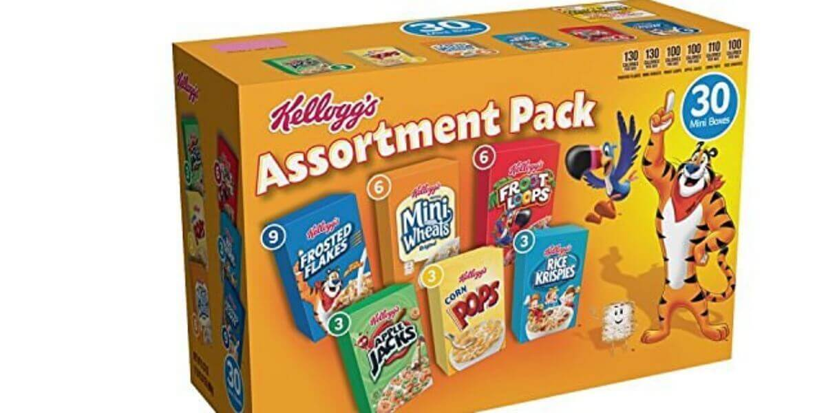 Kellogg's Breakfast Cereal Assortment Pack (30-Count) $6.71 {$.22/Box}