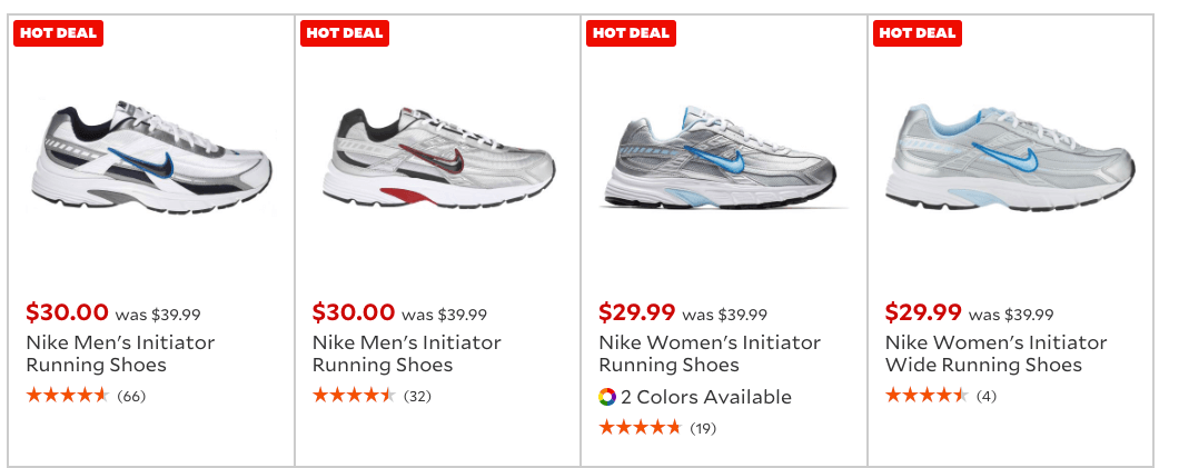 e35606624d2 Get the Nike Men s or Women s Initiator Running Shoes  30 (Reg.  54.99) +  Free Shipping from Academy Sports. Available in some sizes in wide width  too!
