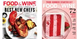 Food & Wine Magazine Only $6.99 per Year or 4 Years for $15!