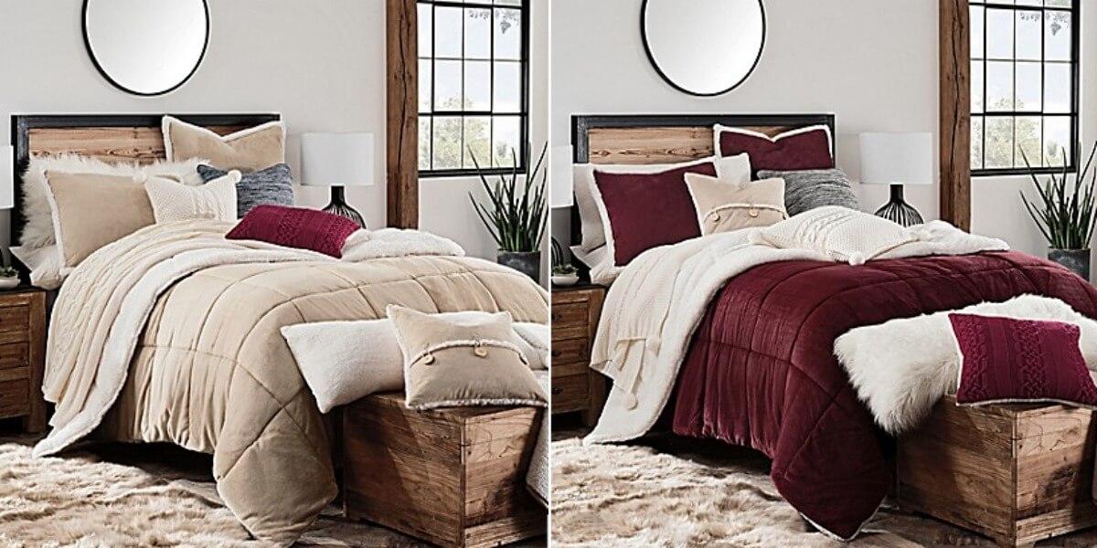 Ugg Hudson Reversible 3 Piece Twin Or Full Queen Comforter