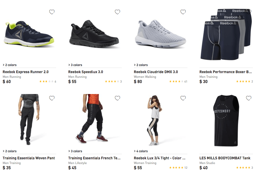 9a76d60757c7 Reebok Buy 1 Get 1 Free Select Shoes