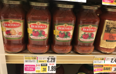 Bertolli Pasta & Alfredo Sauce as Low as  $0.79 at ShopRite !
