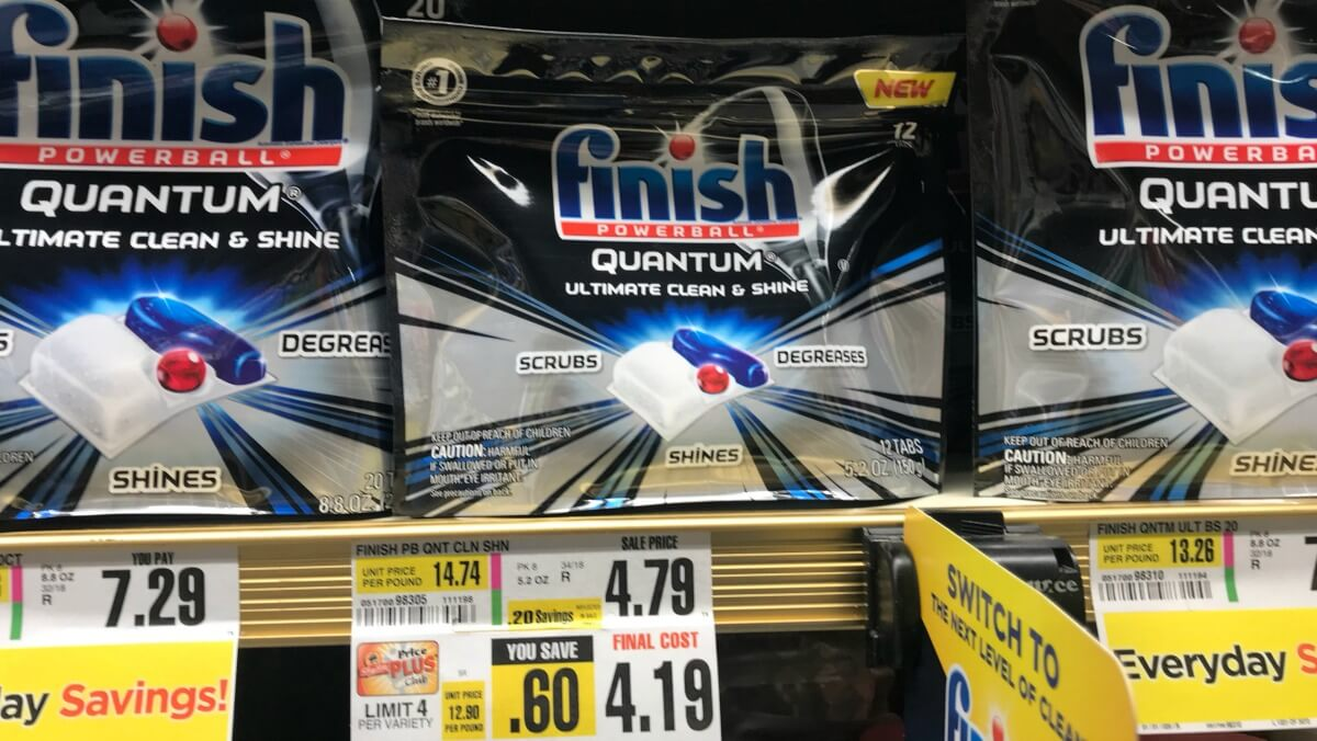 Finish Quantum Tabs as Low as $0.99 at ShopRite !