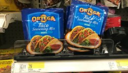Target Shoppers - $0.29 Ortega Taco Seasoning Mixes!