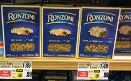 Ronzoni Pasta Just $0.66 at ShopRite!