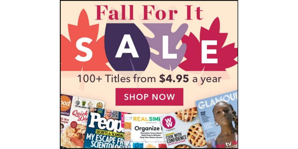 Fall For It Magazine Sale