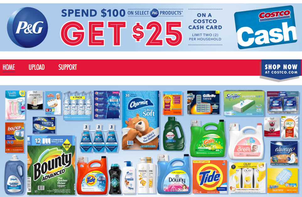 Costco: Spend $100 on P&G Products