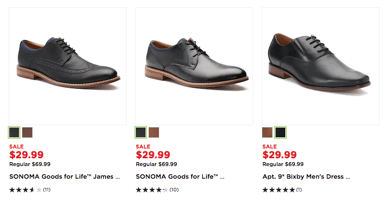 7f3208e923f9 to get t Men s Sonoma Goods for Life or Apt. 9 Dress Shoes 2-Pairs  35.  Free Shipping with code FALL4MVC! Choose from a variety of styles.