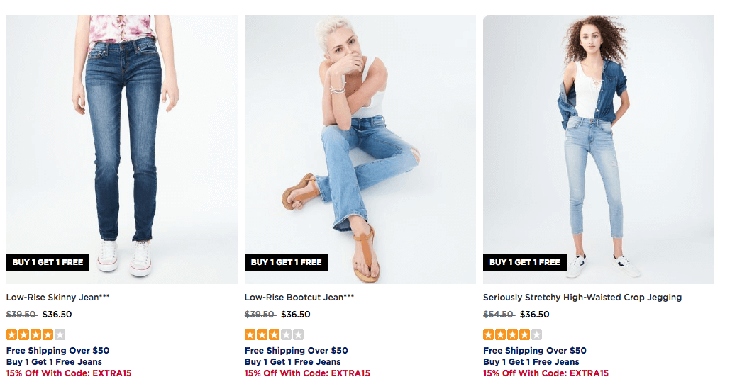 b9dd8f1b7 They are having Aeropostale: Buy 1 Get 1 FREE Jeans for Guys and Girls +  Extra 15% off with code EXTRA15 Free Shipping with orders $50+