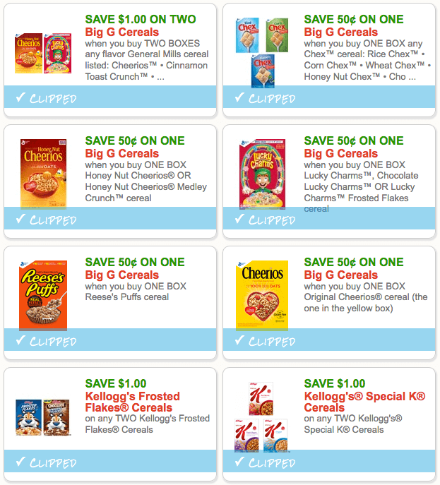 8 Worth Of Cereal Coupons Available To Print Now Living Rich With