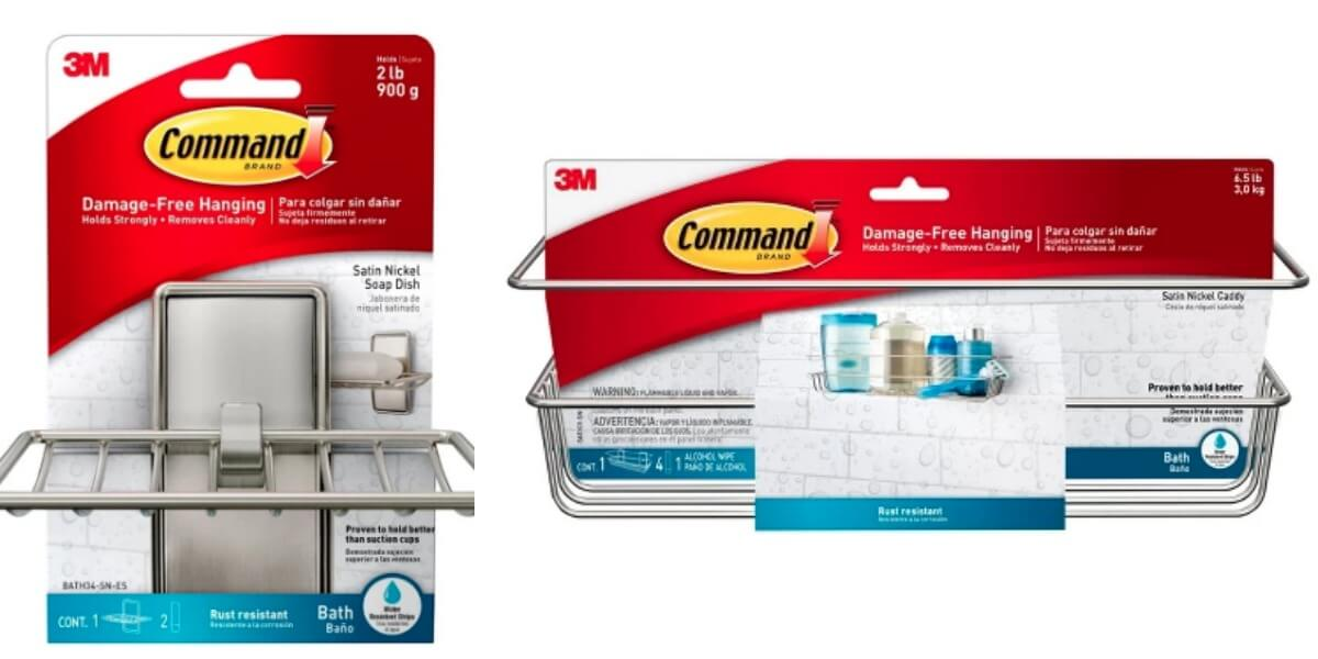 Command Soap Dish Brushed Nickel or Metal Shower Caddy and More ...