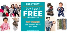 Carter's Buy 1 Get 1 FREE Tees, Leggings, Tops, Shoes, & PJs