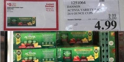 Costco: Hot Deal on Dannon Activia Probiotic Yogurt - $0.21 per Cup!