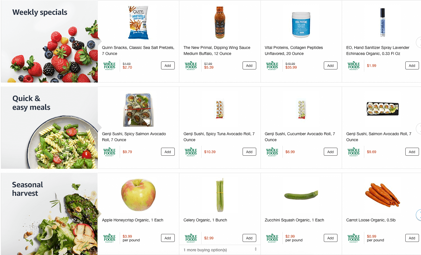 Amazon Whole Foods Delivery