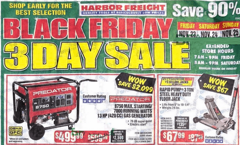 Harbor Freight Black Friday Ad 2018