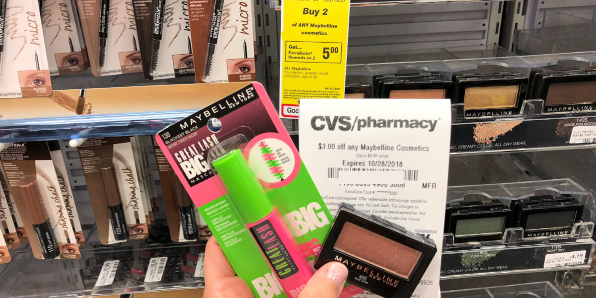 966398094b1 Better than FREE Maybelline Great Lash Mascara and Expertwear Eye Shadow at  CVS!