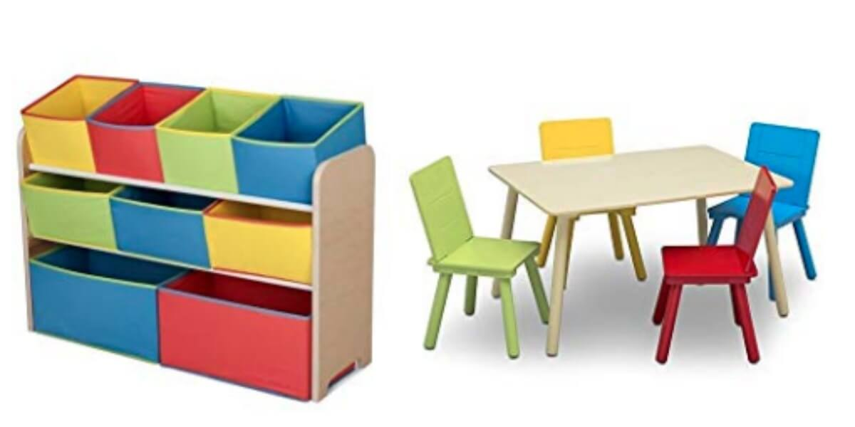 Delta Children Deluxe Multi Bin Toy Organizer Kids Table And Chair