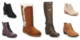 Kohls Boots & Shoes as low as $13 with Stacking Codes {Today Only!}