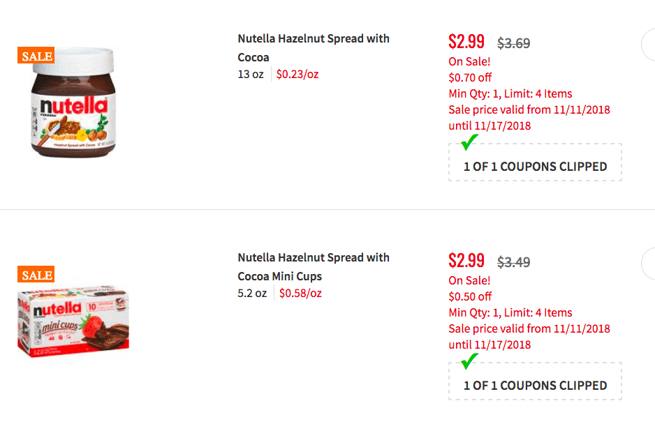 Nutella Hazelnut Spread as Low as $0 49 at ShopRite!Living