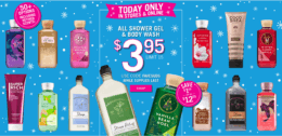 All Bath Gel & Body Wash just $3.95 at Bath & Body Works {Today Only!}