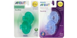 Philips Avent Soothie Pacifier,Blue and Green, 0-3 Months, 4 count $3.54 {Reg. $8.11}