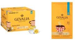 100-Count Signature Blend K-Cup Coffee $23.79, 6-Pack 12oz. Gevalia Ground Roast Coffee $22-$23